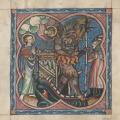 digitized 14th c. Dublin Apocalypse - devil and clerics